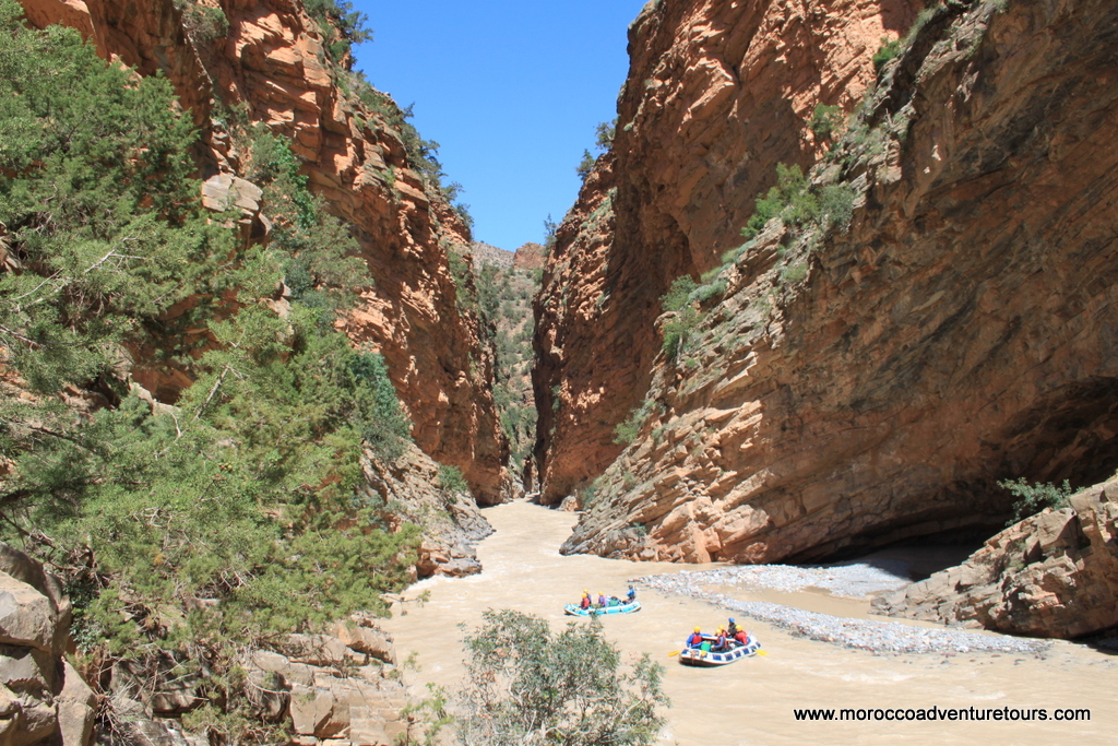 Rafting the Ahansel River, Morocco
